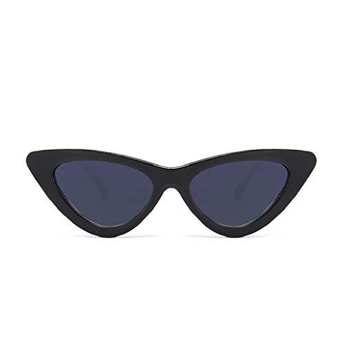 LUCKYCAT Gafas de sol redondas Estilo vintage Gafas de sol estilo punk Redondo Clásico Espejo Lentes Brillo UV Portección Polarizado Hombre Mujer