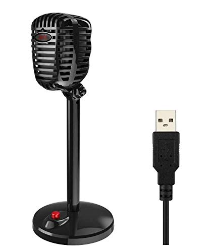 Granvela USB Computer Microphone with Stand for Windows PC/Laptop and...