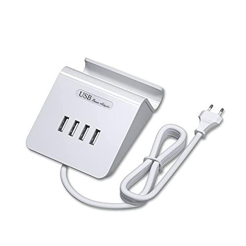 Cargador USB de 4 puertos, Estación Multifunción de Carga 20W / 4A Compatible con iPhone, iPad, Samsung Galaxy, Tabletas, Blackberry, etc. (Blanco)…