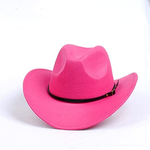 WIPPLY Cowboy hat Large Brim Cowbay Hat Men's Soild Felt Vintage
