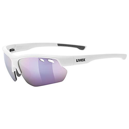 uvex Unisex– Erwachsene, sportstyle 115 Sportbrille, inkl. Wechselscheiben, white/pink, one size