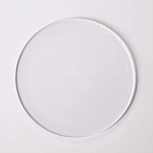 20 dischi rotondi in plexiglass, base in acrilico, dischi in acrilico, cerchi in plexiglass, spessore 3 mm 10 cm Trasparente