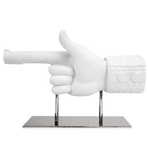 Jonathan Adler - Skulptur, Dekoobjekt, Figur - Uncle Sam Hand - Bisquitporzellan - Länge: 50 cm