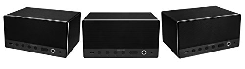 MEDION LIFE P61071 MD 43035 Multiroom Lautsprecher, 2 x 7 Watt + 15 Watt RMS Subwoofer, DLNA, WLAN USB, AUX, schwarz