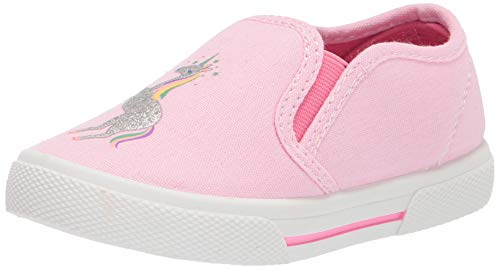 Simple Joys by Carter's Baby Casual Slip-On Canvas Shoe Sneaker, Light Pink, 8 US Unisex Infant