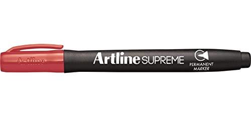 Artline Supreme EPF-700 - Lote de 3 rotuladores permanentes (punta cónica de 1 mm), color rojo