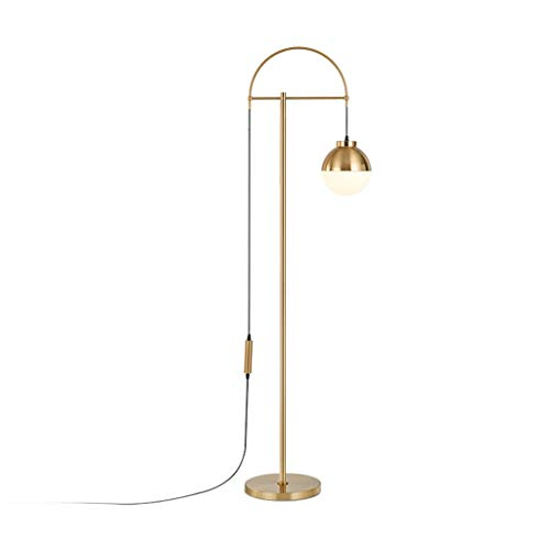 Gouden Dimming Vloerlamp Metalen Vloerlamp met Glas Kogelkap Verstelbare Staande Vloerlamp voor Woonkamer Slaapkamer 01-29