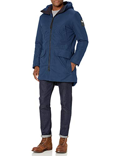 Helly Hansen Men's Calgary Hooded Insulated Winter Parka Coat Jacket, 603 North Sea Blue, Medium