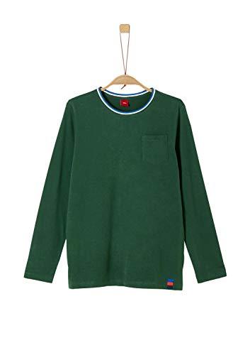s.Oliver Jungen 61.909.31.8823 T-Shirt, Grün (Green 7887), 140 (Herstellergröße: S/REG)
