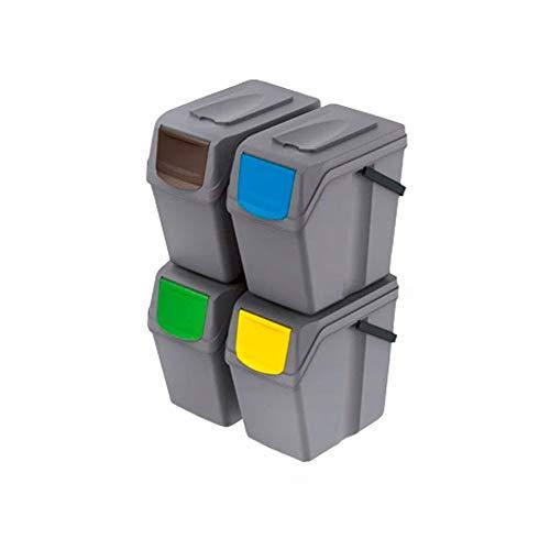 Papelera Reciclaje 4 Compartimentos Marca Prosperplast