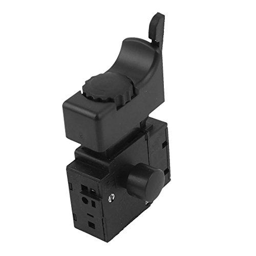 sourcingmap FA2-6/1BEK Interruptor de Gatillo CA 250V 6A Herramienta Eléctrica Parte Controlador de Velocidad Negro