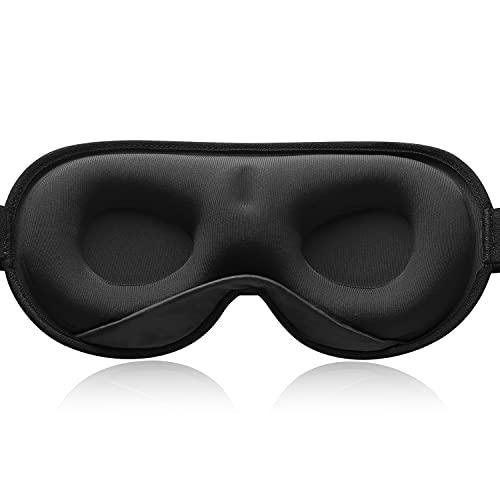 YFONG Sleep Mask, Women Men 2021 3D Weighted Eye Mask Blocking Lights Sleeping Mask, Pressure Relief Night Sleep Eye Masks with Adjustable Strap, Eye Cover for Travel, Nap, Yoga