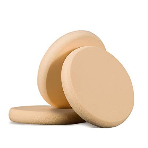 3 Pièces Eponge Ronde Maquillage éponge Ronde pour en Poudre de Maquillage Eponge Pour Appliquer Le Maquillage, La Poudre, La CrèMe,Humide et sec (3PC)