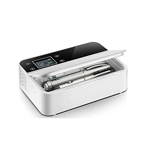 SMLSMGS Caja frigorífica del termostato del refrigerador de insulina portátil con espacio refrigerado, refrigerador de medicina de carga inteligente USB, mantenimiento de enfriamiento 2-8  Para organ