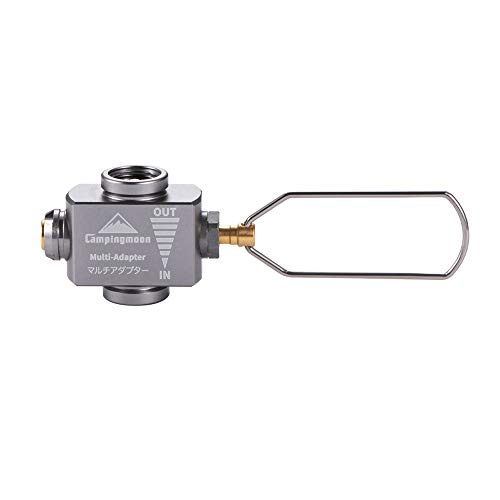 Campingmoon Gas Canister Refill Adapter, Portable Outdoor Gas Saver Lindal Valve Canister Shifter, Camping Canister Vent Valve, Z15
