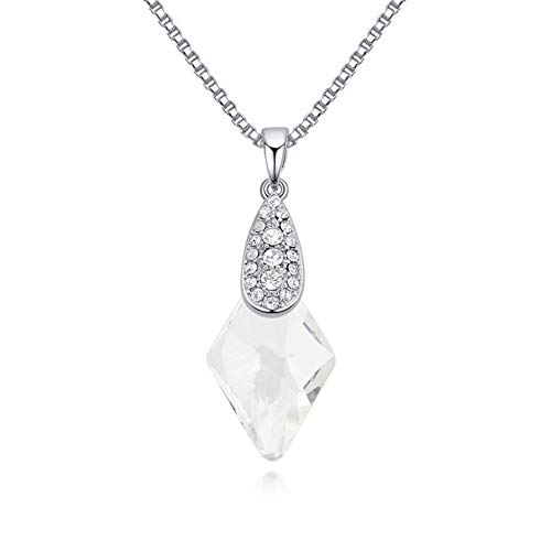 NSXLSCL Halsketting voor dames, oorbellen, kristal, vorm van de geometrie van de mode, accessoire voor damesjurk