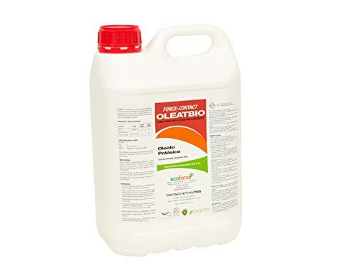 CULTIVERS Jabon potásico. Insecticida ecologico con Registro para Agricultura. Actua por Contacto. eficacia contra: Mosca Blanca, araña roja, Trips, cochinillas o pulgones (5 L)