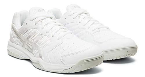 ASICS Gel-Dedicate 6 Men's Tennis Shoes, White/Silver, 11 M US