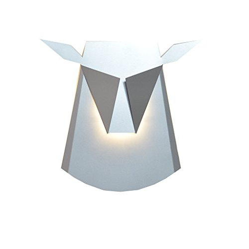 Creatieve LED-span kleur roodwild-kop-spaarlamp met een doek Shadelamp leeslamp E14 trap bedlampje voor gang, 36cm * 39cm 20.04.22