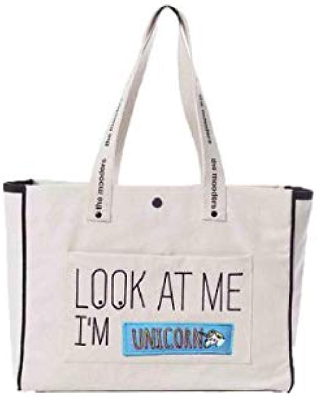 compra en línea hoy Grand Grand Grand Cabas Moodbag écru Patch Unicorn  punto de venta