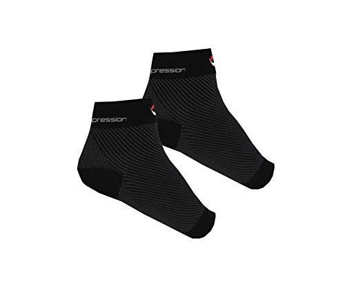 NV Compression Kompressionssocken/Fußgelenk Bandage für effektive Kompression beim Laufen & Sport - Kompressionsstrümpfe für Damen & Herren (Schwarz - 2 Paare, S/M (EU 34-40, UK 1-6))