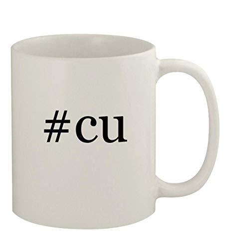 #cu - 11oz Ceramic White Coffee Mug, White