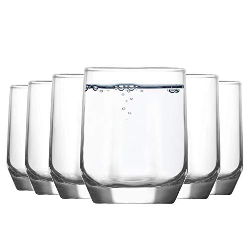 LAV diamante de cristal Vasos de agua - 215 ml - Envase de 12