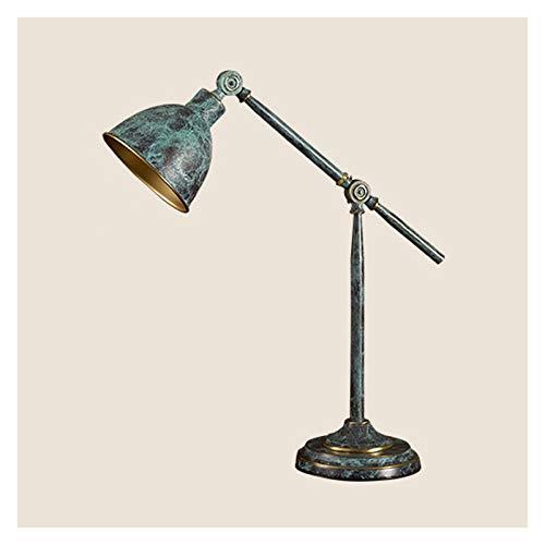 NYKK Lámpara de Escritorio LED LED de 12W Lámpara de Mesa de Cobre Retro Brazo Largo Lámpara de Mesa Plegable para Leer estudiando Trabajando, luz cálida