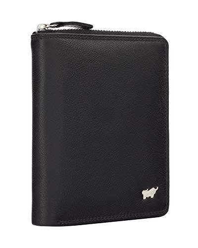 BRAUN BÜFFEL Geldbörse Golf 2.0 aus echtem Leder - 8 Fächer - schwarz