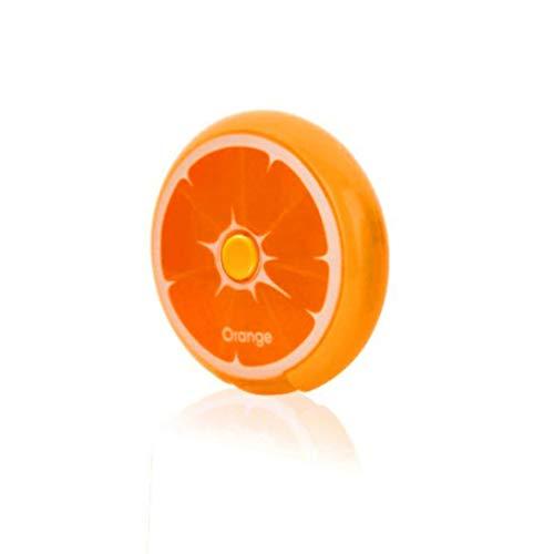 Caja de pastillas de medicina pequeña de forma redonda portátil Portátil 7 días semanal de viaje Soporte de medicina Caja de almacenamiento de tableta Contenedor - Naranja