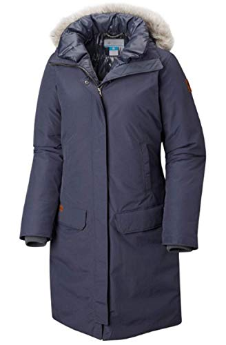 Columbia Women's Alpine Escape 550 Down Long Hooded Omni Heat Winter Jacket India Ink (XL)