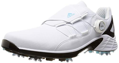 ADIDAS ZG 21 Boa, Zapatos de Golf Hombre, Blanco/Negro/Sky, 43 1/3 EU