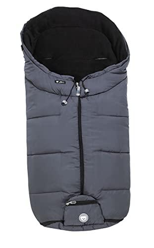 ALVI Mikrofaser Winter Fußsack für Kinderwagen & Buggy   Anti-Rutschschutz durch Noppen   weicher & warmer Webpelz   Reflektorstreifen   atmungsaktiv & wasserabweisend, Design:grau