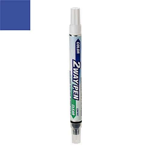 ExpressPaint 2WayPen - Automotive Touch-up Paint for Volkswagen Beetle - Techno Blue Pearl Clearcoat LW5Y/K9 - Color + Clearcoat Only