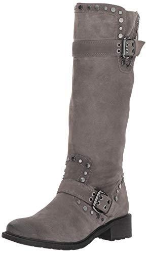 Sam Edelman Women's Deryn Knee High Boot, Steel Grey Suede, 9 M US