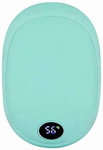 ZSW Hand Warmer 4-en-1 1000mAh USB Recargable Hand Warmer Power Bank Carga rápida para mini con vibración Masaje LED Linterna (Color: Rosa Tamaño: Talla única)-Talla única_Verde