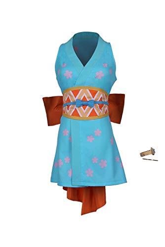 Bilicos Wano Country Nami Wanokuni Style Nami Cosplay Outfit Halloween Karneval Cosplay Kostüm Damen XS