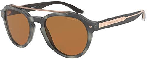 Armani Gafas de sol Giorgio AR8129 577773 Gafas de sol hombre color Gris marrón tamaño de lente 52 mm