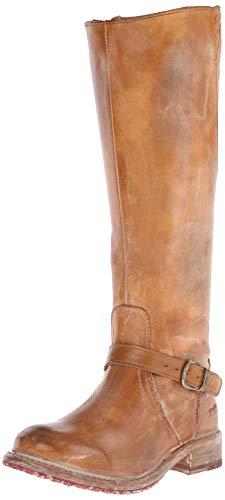 BED STU Women's Glaye Motorcycle Boot, Tan Rustic/White, 7.5 M US