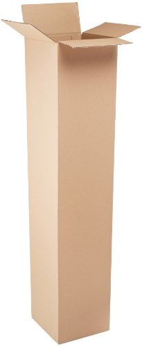 Aviditi 121260 Tall Corrugated Cardboard Box 12' L x 12' W x 60' H, Kraft, for Shipping, Packing and Moving (Pack of 10)