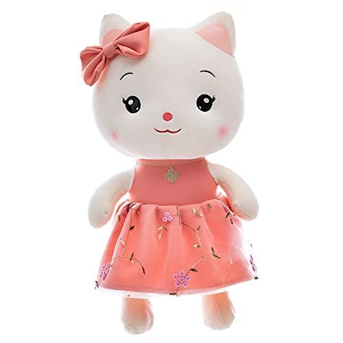 Generic Peluche de dibujos animados Soft Couple precioso gato muñeca gato es el mejor regalo para los niños (rosa, 95 cm)