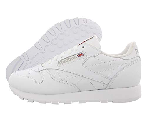 Reebok Men's Classic Leather Casual Sneakers, White/White, 12 M US