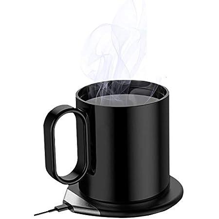 CIO 2Way マグウォーマー カップウォーマー マグカップ 保温 コーヒーウォーマー qi認証品 充電55℃ 保温コースター 飲み物保温 ワイヤレス充電器 デスク オフィス 家庭用 プレゼント ギフト コーヒー 紅茶 ホットミルク スープ (ブラック)