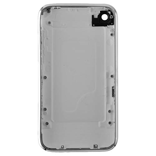 Door with Chrome Bezel for Apple iPhone 3GS (White) with Glue Card -  Wholesale Gadget Parts