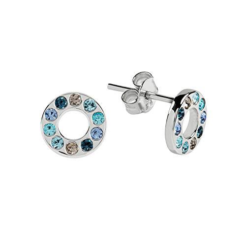 RADLEY Signature Ladies Silver Round Stones Stone Disc Earrings RYJ1111