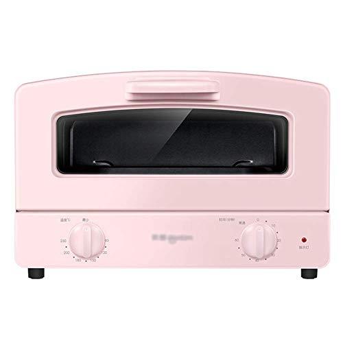 Accueil Cuisine Four Mini Four, Four Compact, Double Quartz tube en verre Chauffage, Type de tiroir Grilled net et 1000W Puissance de cuisson, 12 L (Color : Pink)