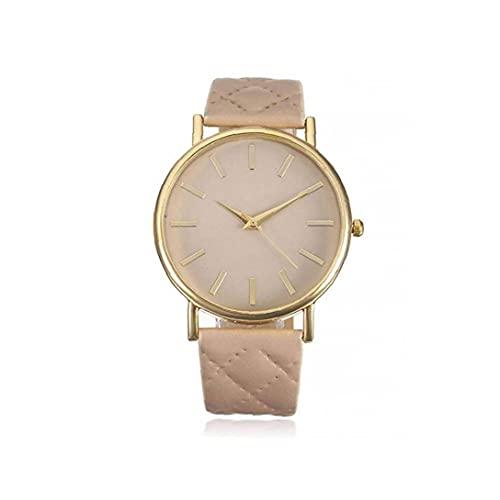 Reloj Unisex Reloj de Cuarzo analógico con Brazalete de Cuero. Reloj de Pulsera de Pulsera de diseño Simple para Hombres.