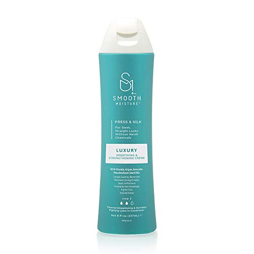 SmoothMoisture Luxury Smoothing & Strengthening Creme Leave-In Hair Conditioner for Easy Silk Press and Blow Outs (8 oz)
