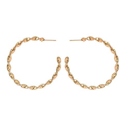 ROVNKD Exaggeración creativa, 3 piezas de metal tipo pendientes grandes para mujer Gold1 Tallaúnica