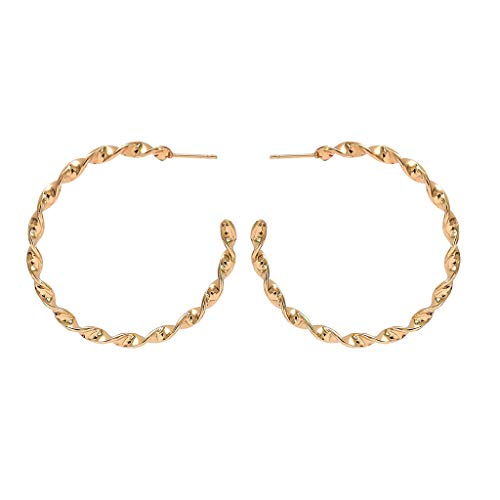 Minshao - Pendientes para mujer, diseño geométrico dorado dorado